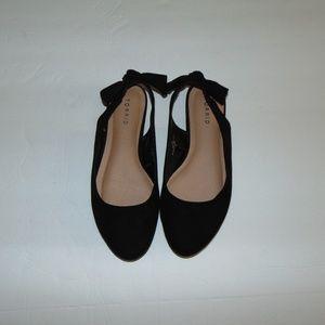 Torrid Back Bow Black Ballerina Flats 10 Wide